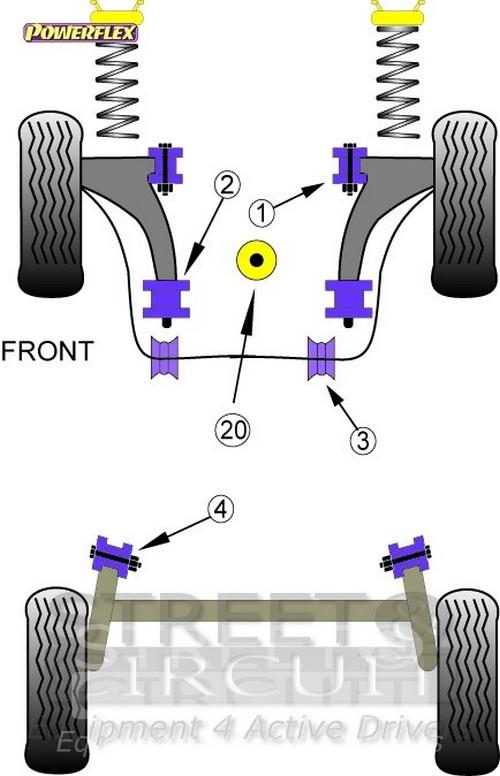 Seat Ibiza 6L Powerflex Road Lower Engine Mount Large Bush PFF85-620 2002-2008