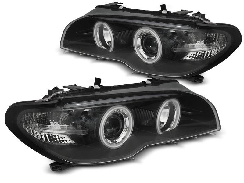 Faros Delanteros Angel Eyes Bmw E46 04 03 06 Coupe Cabrio Angel Eyes Ccfl Xenon Negro