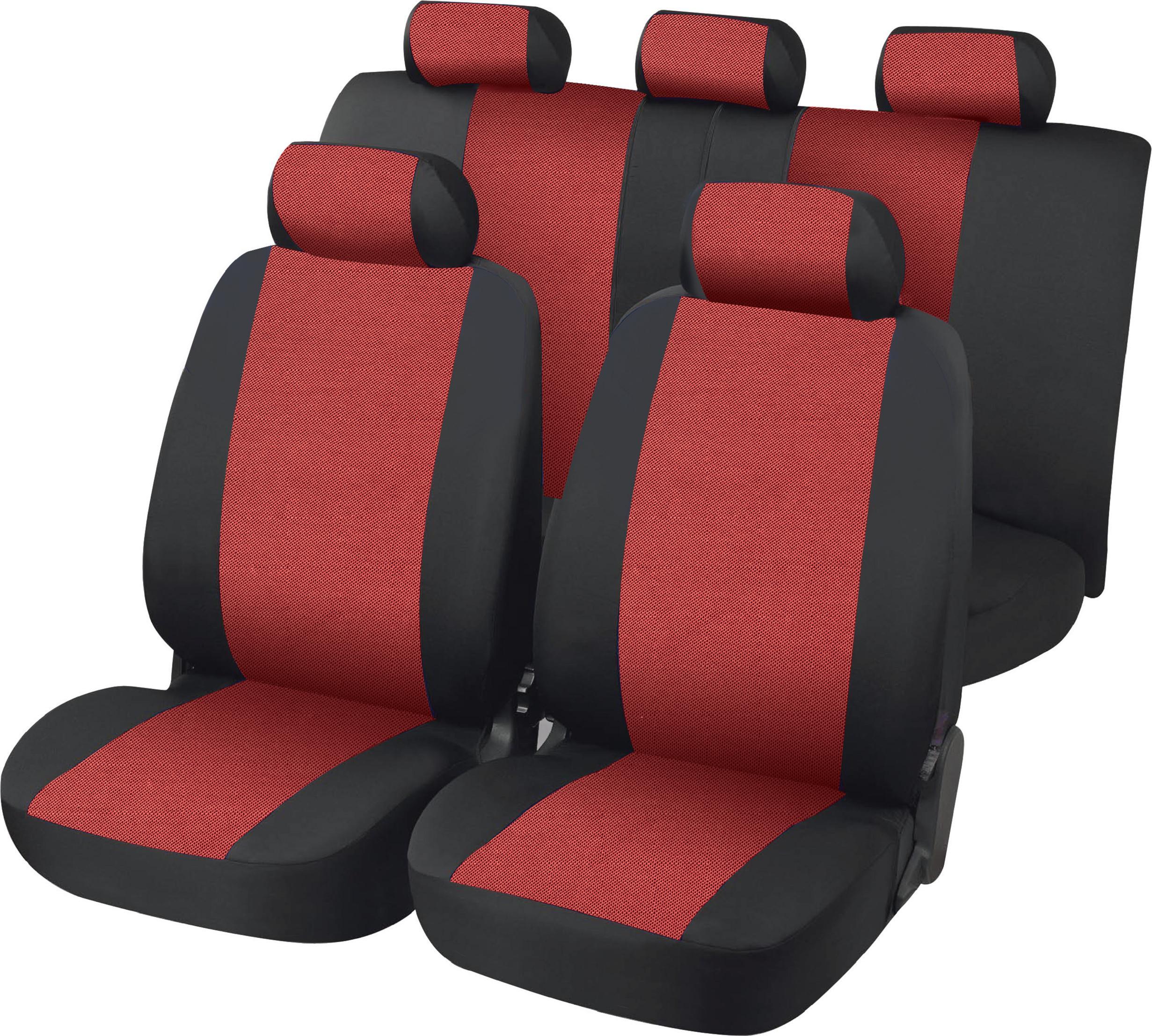 Comprar fundas asiento 11 piezas belfort negro rojo a 41 for Fundas asientos 4x4