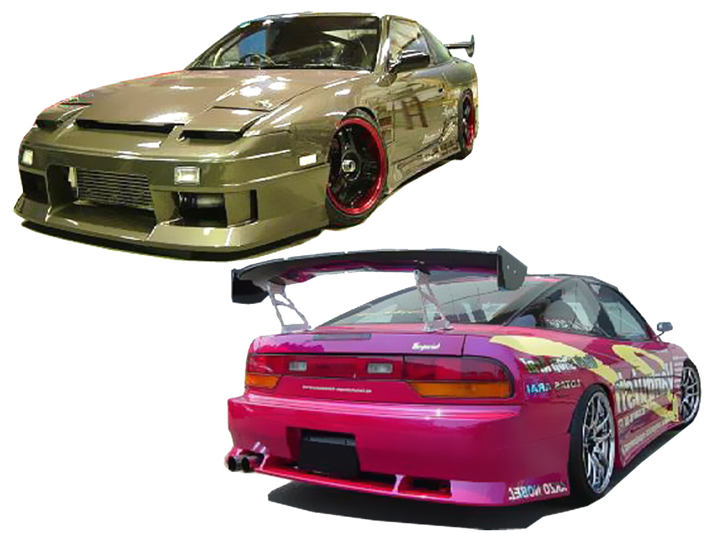 comprar kit carroceria nissan 180 200sx s13 silvia drift body kit a 558 00 unicar 200sx. Black Bedroom Furniture Sets. Home Design Ideas