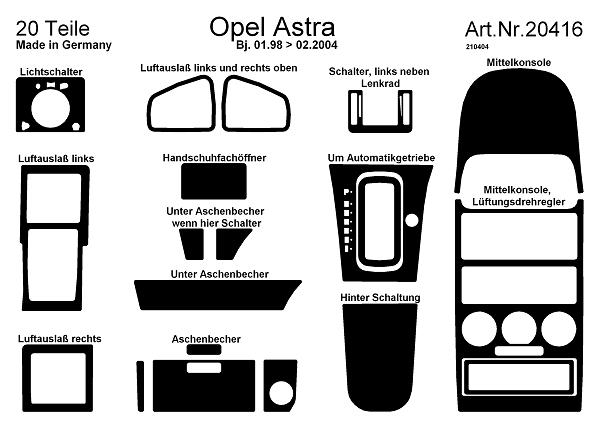 comprar laminas salpicadero opel astra g  autom u00e1tico