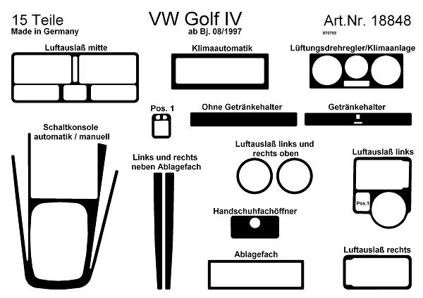 Comprar laminas autoadhesivas prewoodec volkswagen golf iv for Pieces interieur golf 4