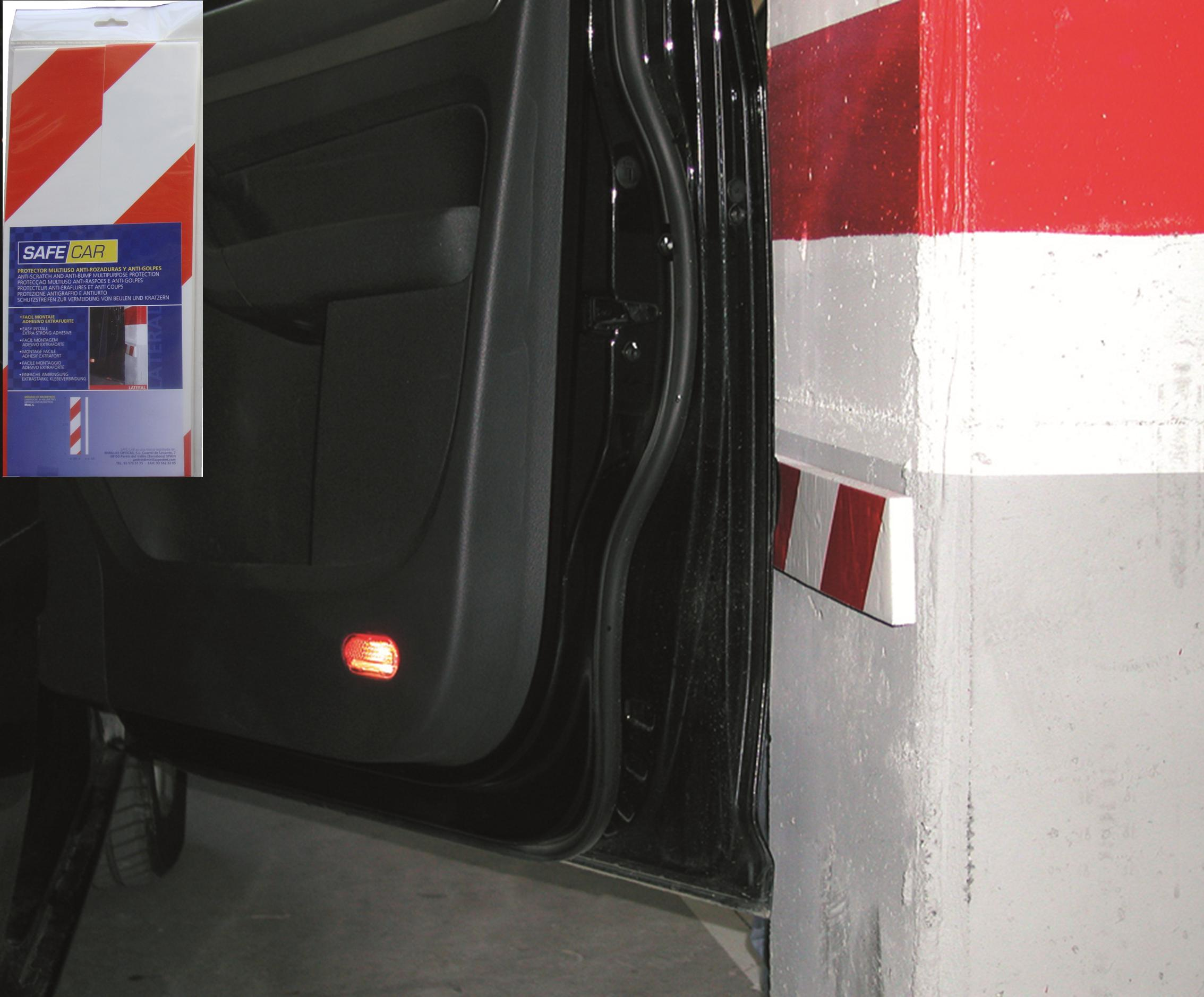Comprar protector parking pared late 2 piezas 370x80x15mm for Protector parking carrefour