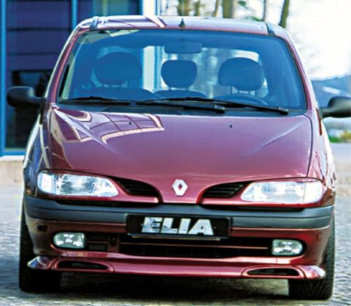 Renault megane spoiler anterior evostyle scénic 1 ph 1, 3piezas elia