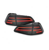 Pilotos Traseros Led Vw Golf 7 Vii 2013-2020 Negro/Ahumado Con Intermitentes Dinámicos