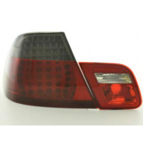 Kit De Pilotos Traseros Led Bmw Serie 3 Coupe Modelo E46  99-03 Negro/Rojo Fk Automotive