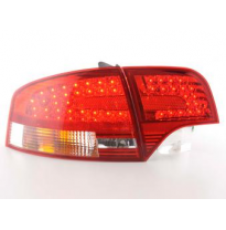 Kit De Pilotos Traseros Led Audi A4 B7 8e Sedan  04-07 Rojo/Color Claro Fk Automotive