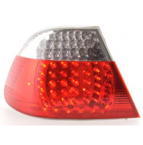 Kit De Pilotos Traseros Led Bmw Serie 3 Coupe Modelo E46  99-02 Color Claro/Rojo Fk Automotive