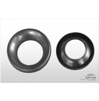 plate for tail pipe round Ø114mm - hole: 63mm