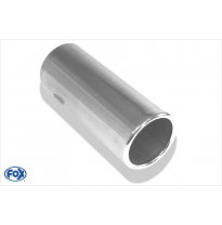 Cola de escape para soldar 12 Ø 114 mm / lenght: 400 mm - round / rolled / straight / without absorber