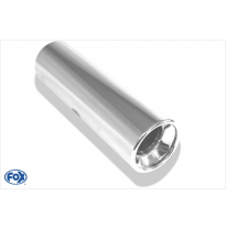 Cola de escape para soldar 13 Ø 114 mm / lenght: 400 mm - round / rolled / straight / with absorber