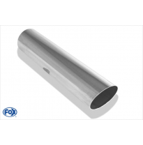 Cola de escape para soldar 14 Ø 114 mm / lenght: 300 mm - round / sharp-edged / 15° slant / without absorber