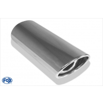 Cola de escape para soldar 33 106x71 mm / lenght: 300 mm - oval / rolled / 15° slant / with absorber