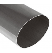 Cola de escape para soldar 34 115x85 mm / lenght: 300 mm - oval / sharp-edged / straight / without absorber