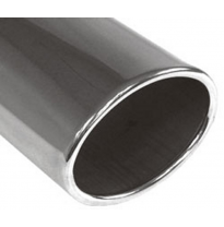 Cola de escape para soldar 36 115x85 mm / lenght: 300 mm - oval / rolled / straight / without absorber