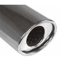 Cola de escape para soldar 37 115x85 mm / lenght: 300 mm - oval / rolled / straight / with absorber