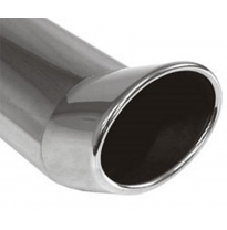 Cola de escape para soldar 42 115x85 mm / lenght: 300 mm - oval / rolled / FOX-Design / without absorber