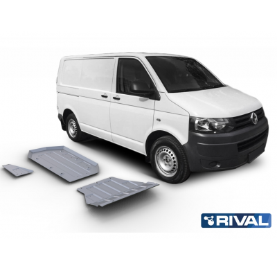 Proteccion kit completo sin diferencial (3 pcs) RIVAL Volkswagen T5 / Caravelle / Multivan / Transporter  2003-2010; 2010-2015 .