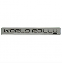 Aluminum Emblem/Logo - World Rally - 12x1,5cm