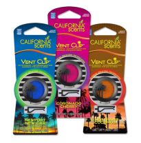 California Scents Vent Clip Display 6 Pieces Capistrano Coconut