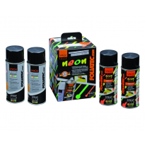 Foliatec Spray vinilo (Dip) NEON 4-piezas juego - amarillo 2x400ml + base coat 2x400ml