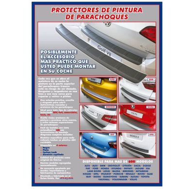Protector Paragolpes Trasero Abs Peugeot 407 Sw -3/09