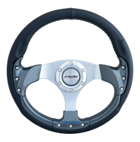Volante Simoni Racing Estoril 320mm - Piel negra / Carbon-Look