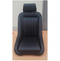 Asiento Deportivo Autostyle 'Classic' - Negro - No reclinable back-rest + Head-rest - incl. guías universales