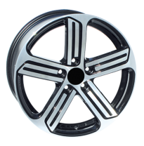 Llanta Replica Volkswagen Tipo 738 7.5x17 5x112  Et-45 57.1 Black Polished