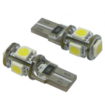 Kit Lamparas Posicion S/C 12v  , 5 Led Smd , Can Bus T10 , 10 X 28 Mm , 2,1 W.  X  9,5 D , Solo Validas Para Competiciones, Circ