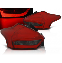 Pilotos Traseros Led Ford Focus 3 15-18  Hatchback Rojo Ahumado Led