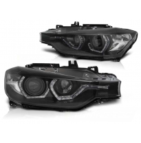 Faros Delanteros Bmw F30/F31 10.11 - 05.15 Angel Eyes Led Black Xenon Drl