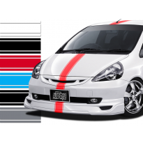 Auto racingstripe 150 azul 20+90+20mm/ 5m largo