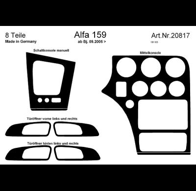 Comprar Laminas adhesivas consola central / puertas alfa