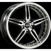 "Llanta Motec Wheels Pantera Black Polish 9,5jx19"" - Peso 12,8-13,6"