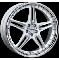 "Llanta Motec Wheels Pantera White Stainless Lip 9,5jx19"" - Peso 12,8-13,6"