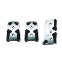 Pedales 3 Pedal Set (Standard Accelerator Pedal) in Anodized Aluminium; Comes Complete With Acero Mounting Hardware. Colour:  Al