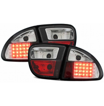 Pilotos traseros LED para Seat Leon 1999-2005, Color negro Dectane